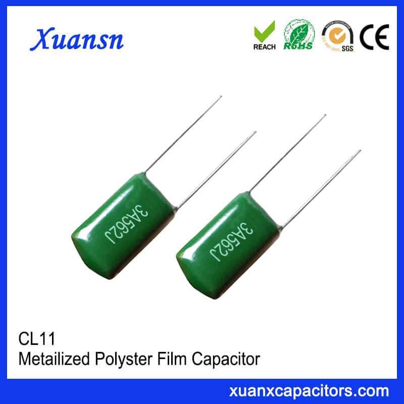 Polyester film foil type sensitive polyester capacitor CL11 562J1000V