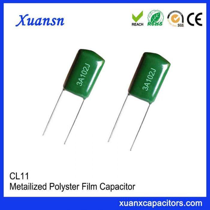 CL11 102J1000V polyester capacitor
