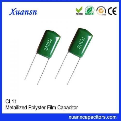CL11 polyester capacitor 103J100V