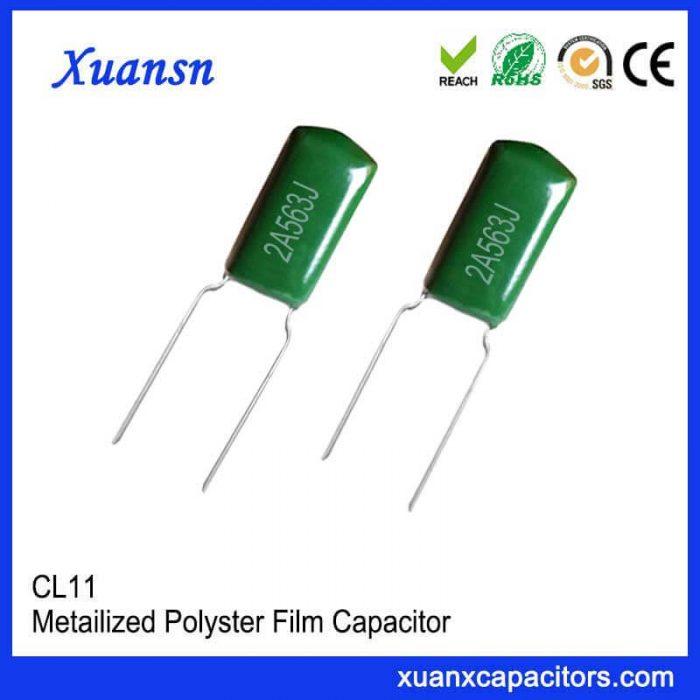 Polyester capacitor 563J100V