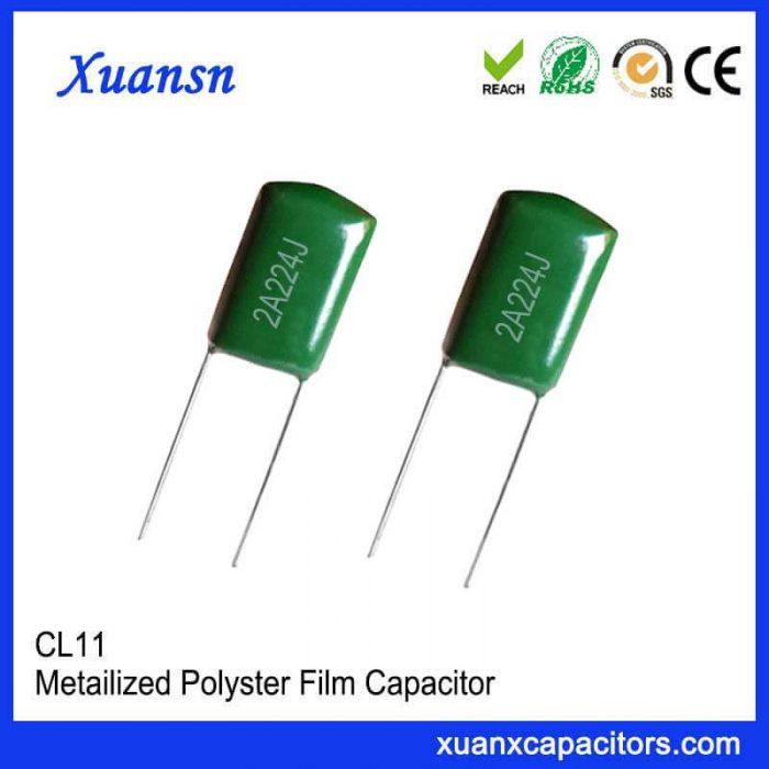 Film capacitor CL11 224J100V