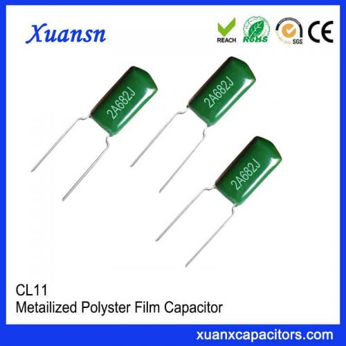 CL11 682J100V green polyester capacitor