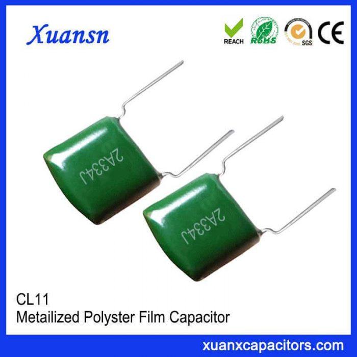 334J100V CL11 Polyester film capacitor
