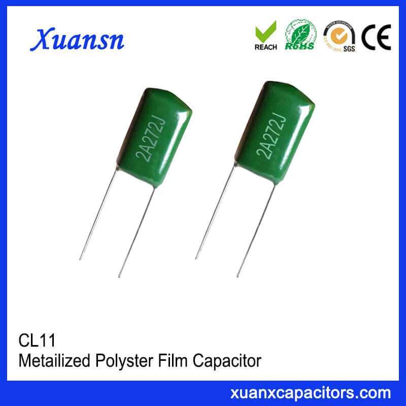 CL11 polyester capacitor 272J100V