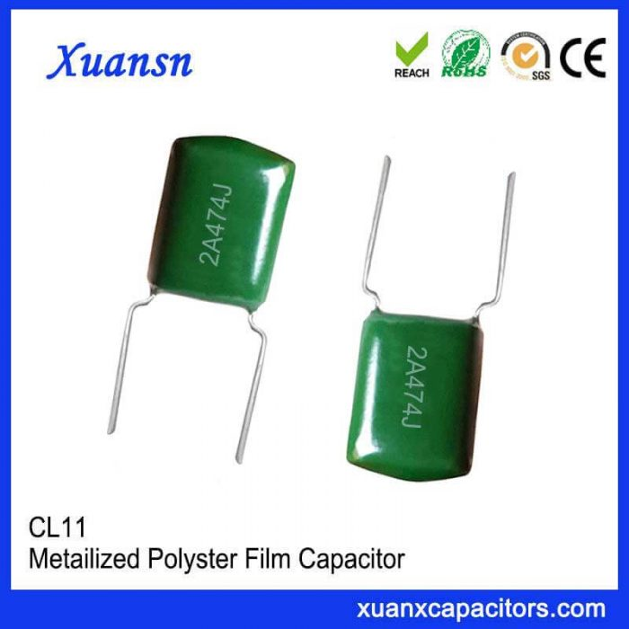 CL11 polyester capacitor 473J100V