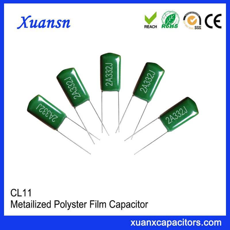 CL11 polyester capacitor 332J100V
