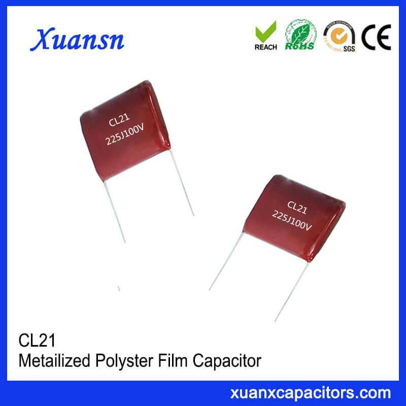Cl21 225J 100V Film Capacitor