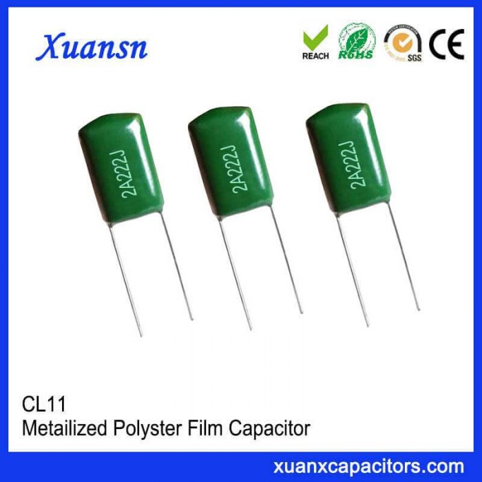 Polyester capacitor CL11 222J100V