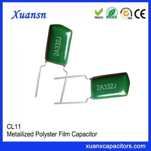 CL11 polyester capacitor 332J100V