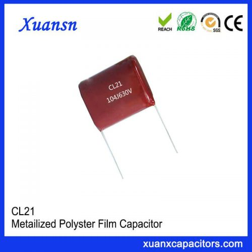 Ceiling Fan Polyester Film Capacitor CL21 104J 630V