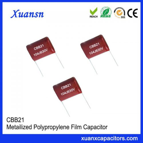 Polypropylene 104J 630V film capacitor