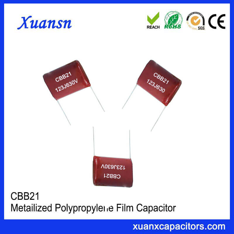 CBB capacitor 630V 123J P=10mm