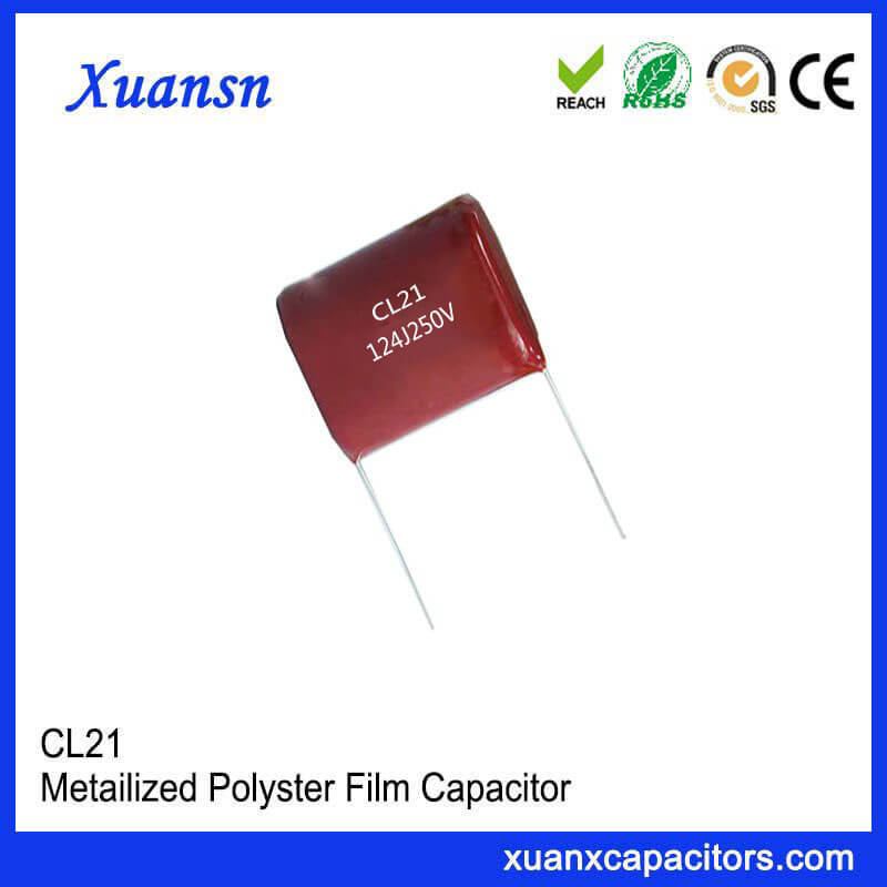 CL21 Film Capacitor Manufacturer 124J 250V