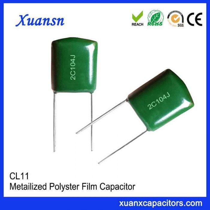 Metal polyester CL11 capacitor 104J160V
