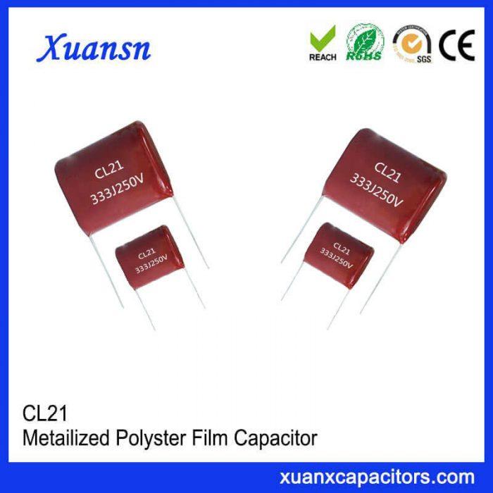 high temperature film capacitors Cl21