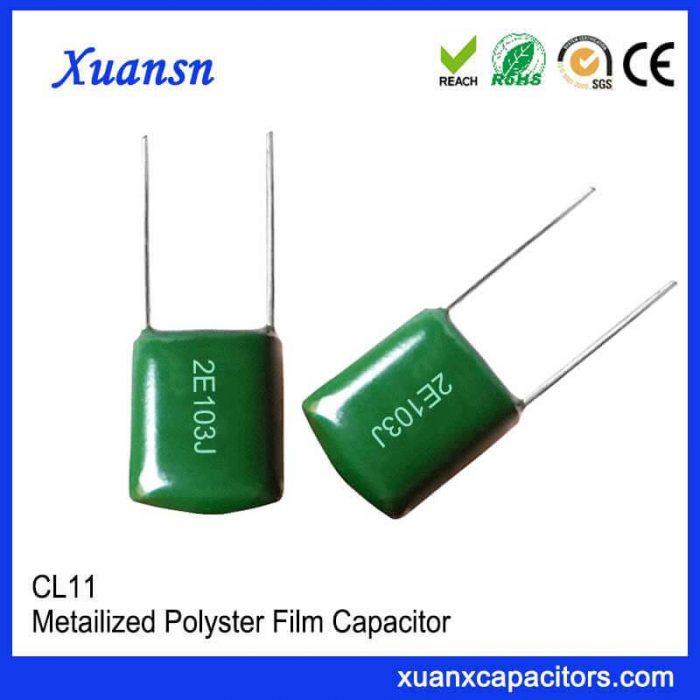 Polyester CL11 film capacitor 103J250V
