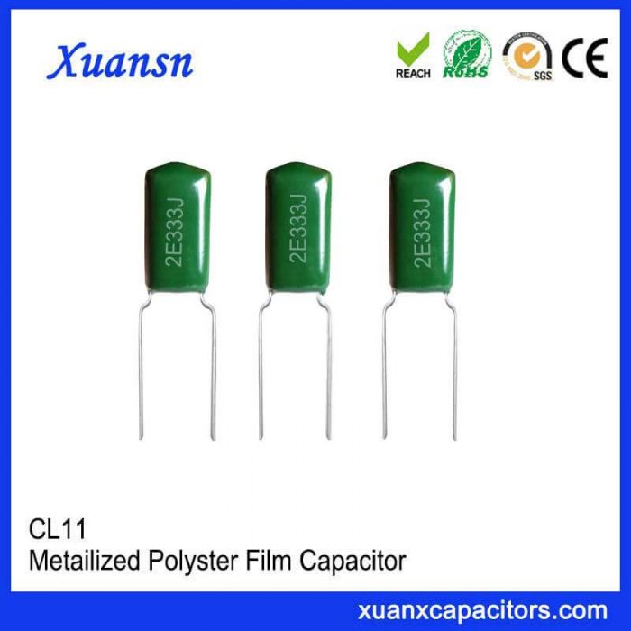 Small size capacitor CL11 333J250V