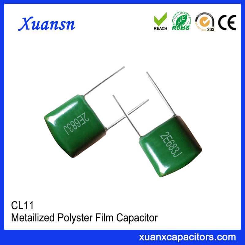 CL11 polyester film capacitor 683J250V