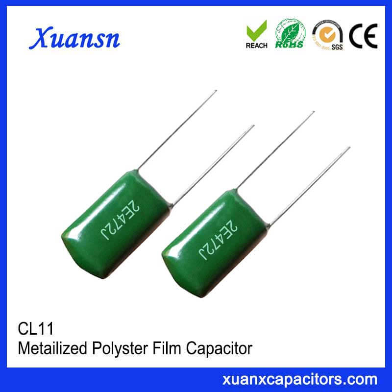 Inductive foil capacitor polyester capacitor 472J250V