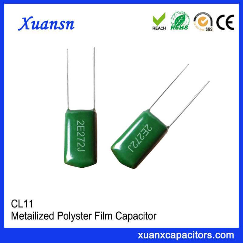 Inductive structure capacitor CL11 272J250V
