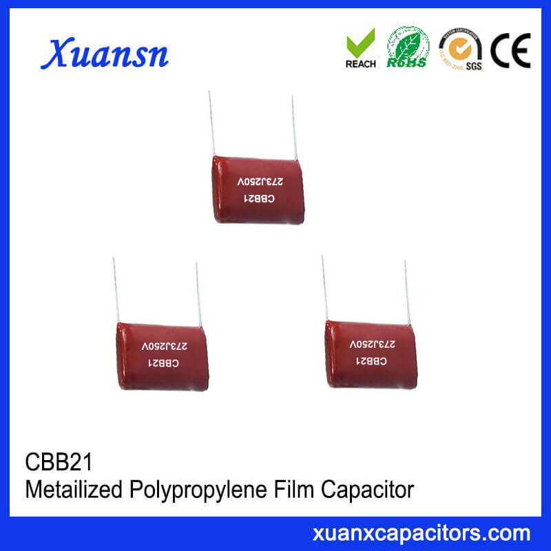 CBB21 metallized film capacitor