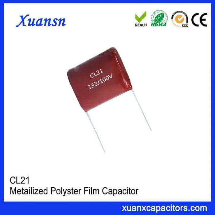 High quality CL21 capacitor 333J100V