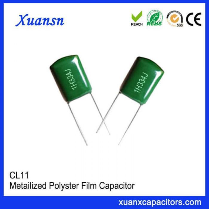 CL11 polyester film polyester capacitor 334J50V
