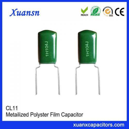 Metal film CL11 capacitor 1H104J
