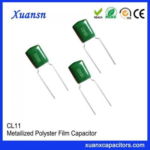 Mylar film capacitor CL11 563J50V