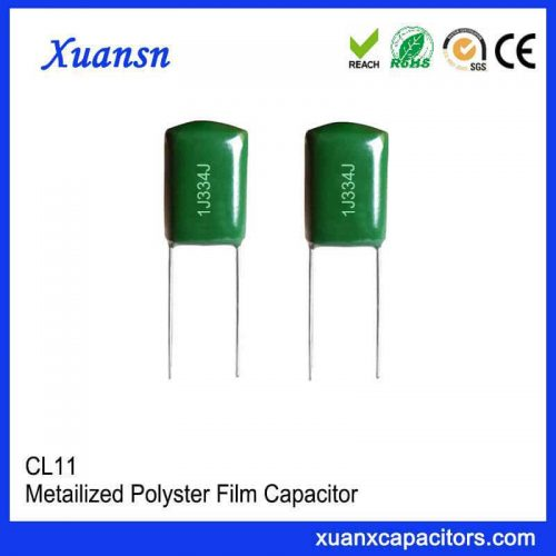 Green polyester capacitor CL11 334J63V