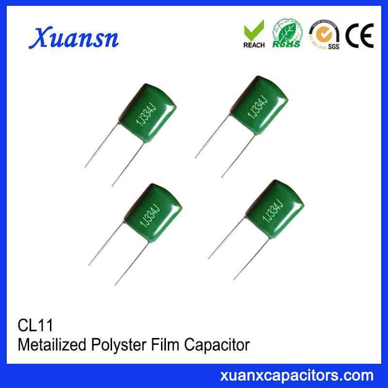 Green polyester capacitor CL11 334J63V