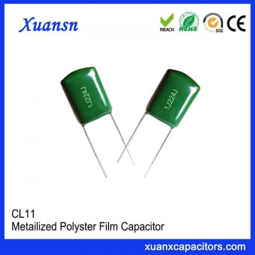 CL11 polyester film capacitor 224J63V