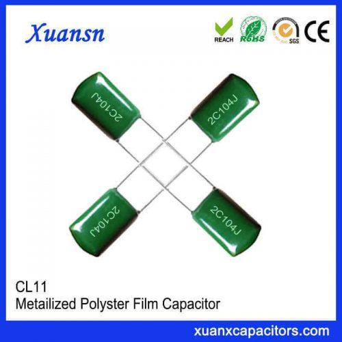 Braided polyester capacitor CL11 104J63V