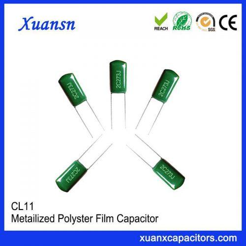 Square Mylar capacitor CL11 273J 160V