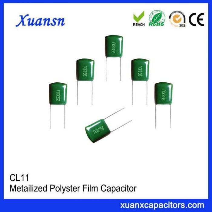 CL11 polyester film capacitor 333J 400V