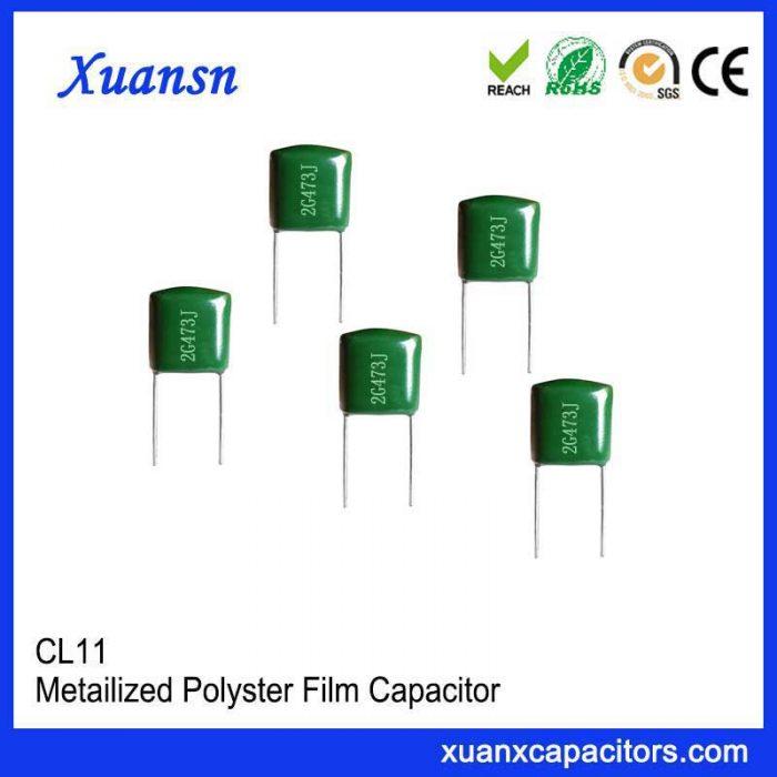 Mylar capacitor CL11 473J400V