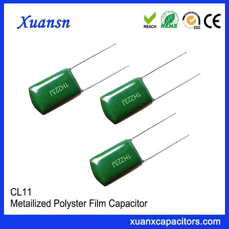 CL11 high voltage polyester capacitor 223J50V