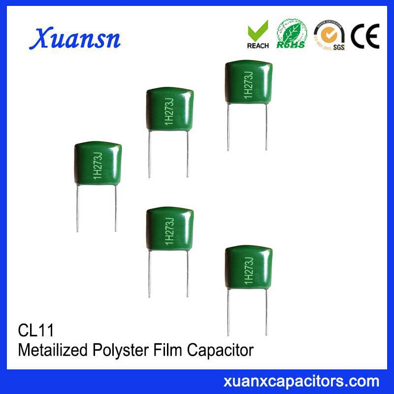 Mylar film capacitor 273J 50V