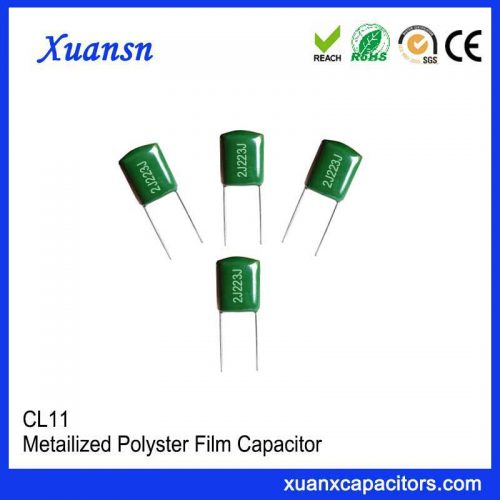 Thin film Mylar capacitor CL11 223J630V