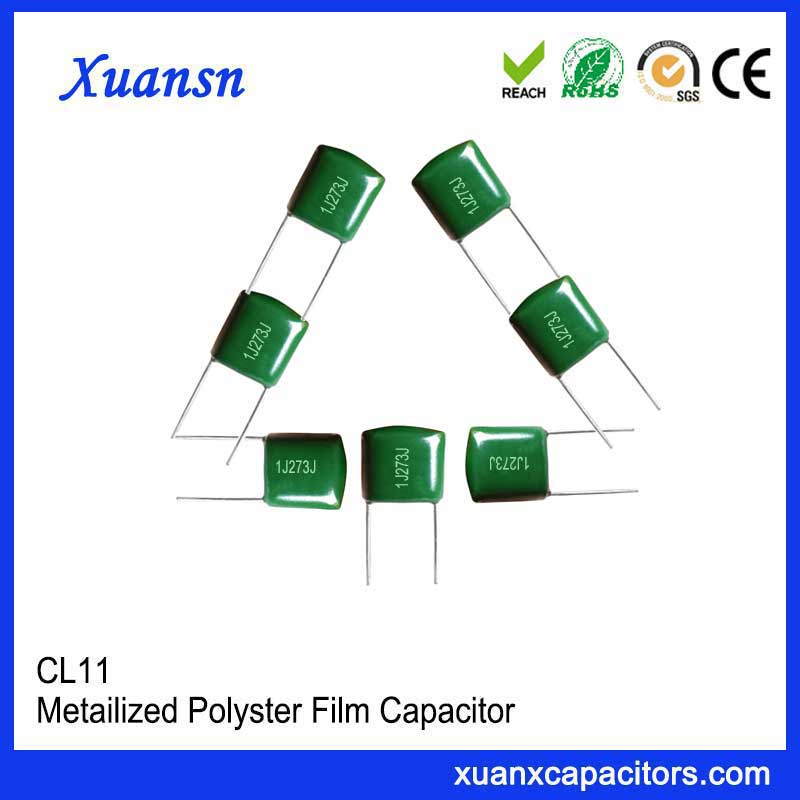 High reliability polyester capacitor CL11 273J