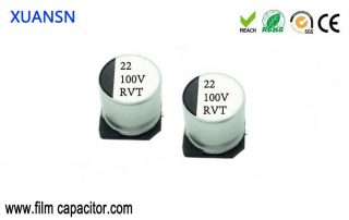 SMD electrolytic capacitor size