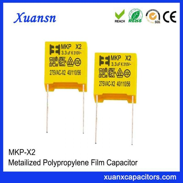 X2 capacitor 3.3uf 275VAC
