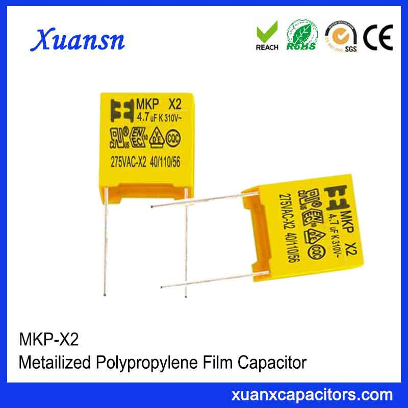Small size X2 capacitor 4.7uf275VAC