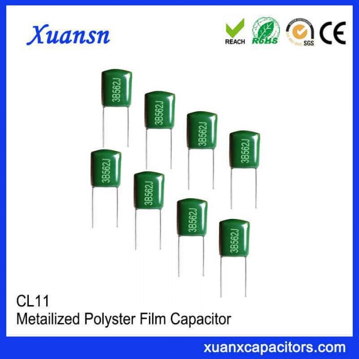Polyester capacitor CL11 562J