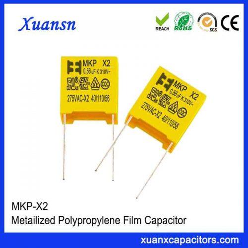 Film capacitor X2