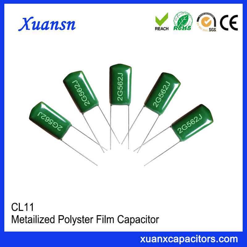 Thin film condenser CL11 562J400V