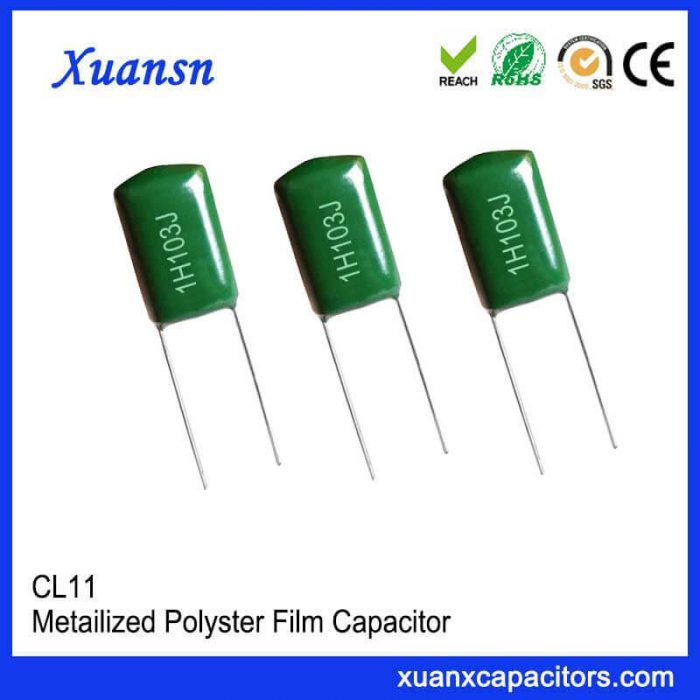 Environmental protection polyester film capacitor CL11