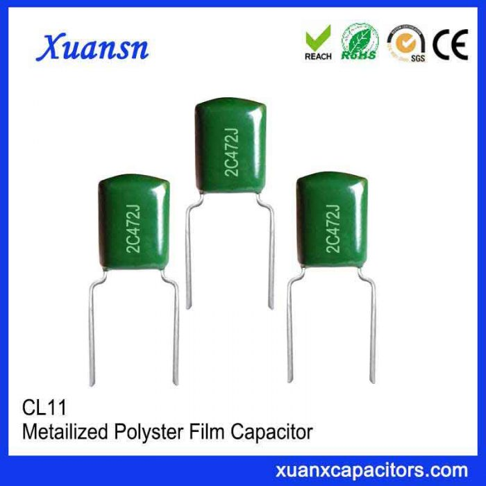 High voltage 472J 160V polyester film capacitor