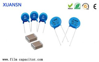 What are the commonly used materials for ceramic capacitors