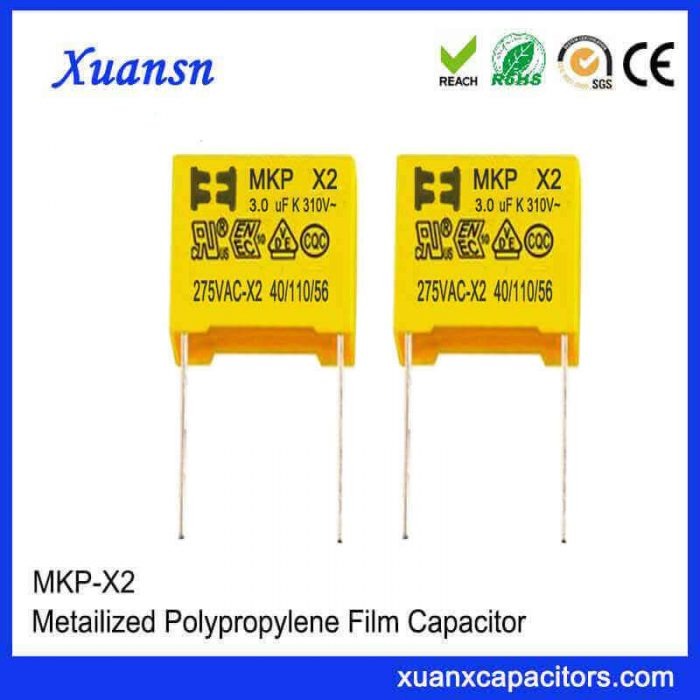 Safety capacitors X2
